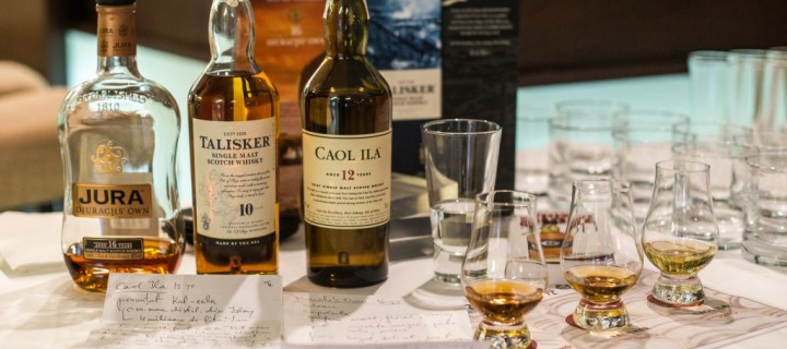 Degustare din trei insule scoțiene: Jura, Skye, Islay